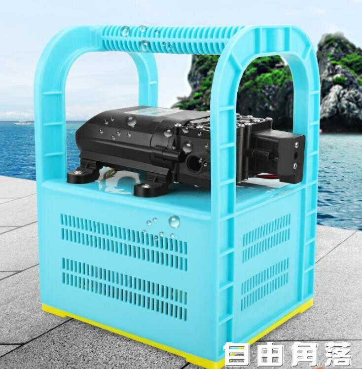 充電式抽水機 充電式抽水機戶外澆菜泵農用便攜式抽水泵12v小型抽水機自吸泵 CY 麻吉好貨
