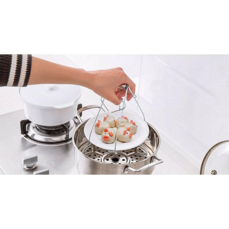 【ELise】廚房神器 不鏽鋼夾子 夾碗器 取碗夾 防滑防燙手創意小工具