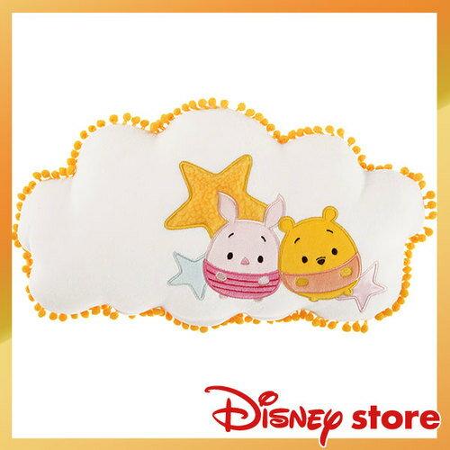 【真愛日本】4936313726145 維尼小豬靠枕-ufufy雲朵系列 迪士尼 維尼家族 POOH   靠枕 抱枕