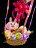 6吋卡娜赫拉格紋蝴蝶結幸福熱氣球,捧花 / 情人節金莎花束 / 熱氣球 / 畢業花束 / 亮燈花束 / 情人節禮物 / 婚禮佈置 / 生日禮物 / 派對慶生 / 告白 / 求婚,X射線【Y292561】 2