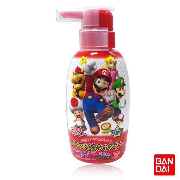 日本,進口 BANDAI 兒童洗髮精 300ml 超級瑪利歐(花香)