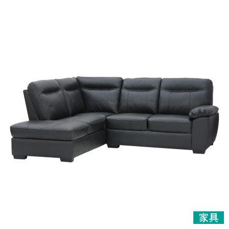 ◎半皮右躺椅L型沙發STONELCBKNITORI宜得利家居