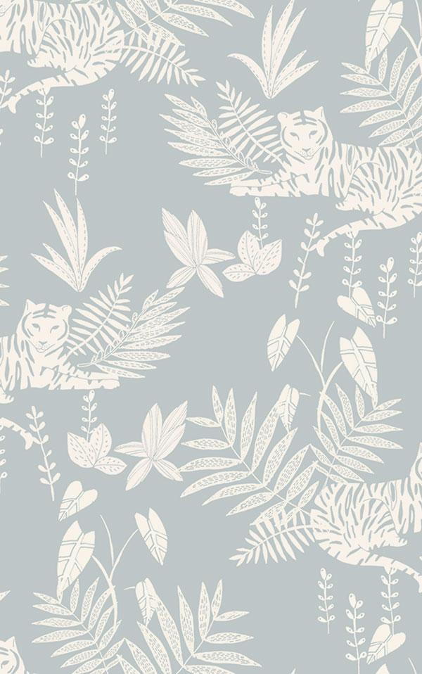 法國壁紙  動物紋 綠色植物紋 兒童房壁紙 2色可選 Season Paper 壁紙 0