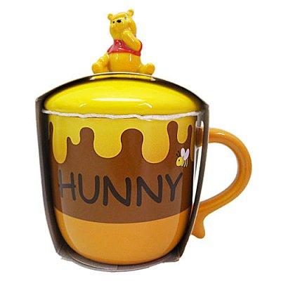 【真愛日本】14121900008 樂園限定馬克杯附蓋-維尼蜂蜜罐  迪士尼專賣店 POOH 咖啡杯