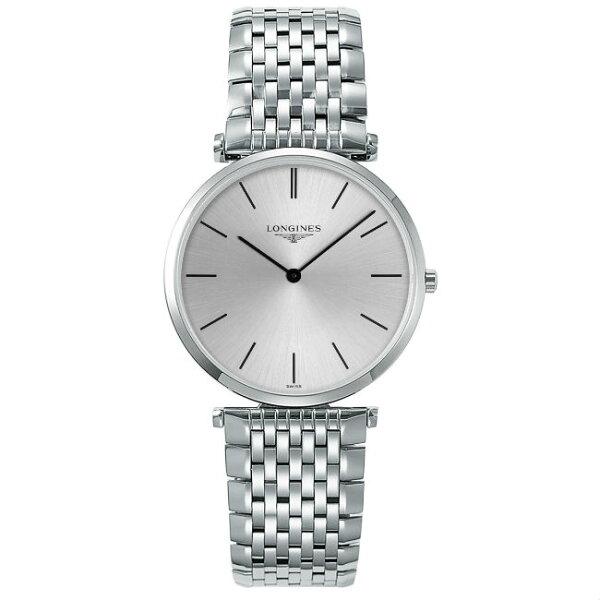 LONGINES浪琴表L47554726嘉嵐石英超薄優雅腕錶白放射面36mm