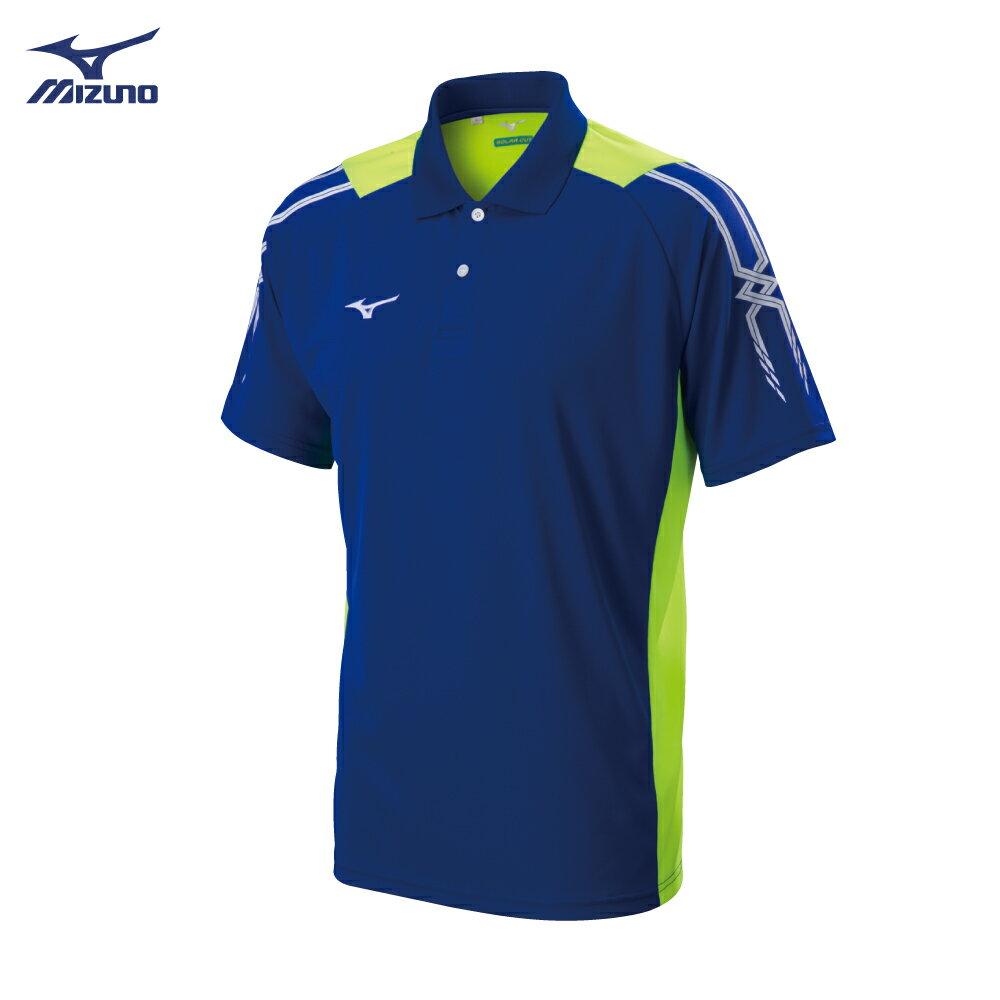 32TA801822(深藍)熱遮蔽布料 男短袖POLO衫【美津濃MIZUNO】 0