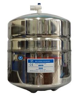 松下飲用水:台灣製造~不銹鋼RO逆滲透純水機儲水桶(壓力桶)4.4Gal美國NSF歐盟CE認證