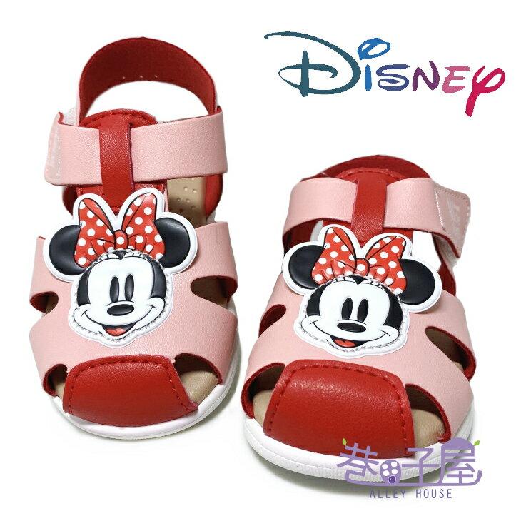 迪士尼DISNEY 童款米妮手工款包趾涼鞋 [118141] 粉 MIT台灣製造【巷子屋】