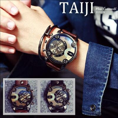 潮流手錶~NXD012~日韓風格‧復古大錶盤潮流男錶‧二色‧休閒