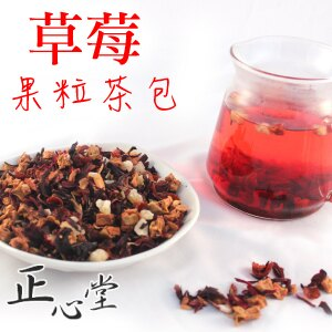 草莓風味果粒/茶包、果粒茶、花茶、無咖啡因、三角茶包/一小包一杯馬克杯剛剛好 【正心堂花草茶】