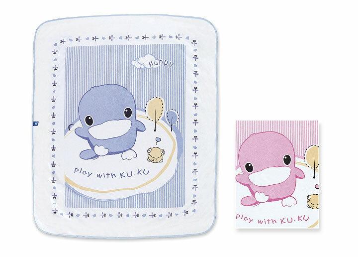 ★衛立兒生活館★KUKU酷咕鴨 嬰兒透氣尿床墊(藍/粉)KU2195