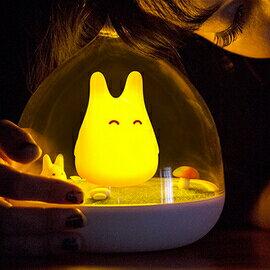 WallFree窩自在★童話景觀超萌小精靈LED床燈/小夜燈-活力橙