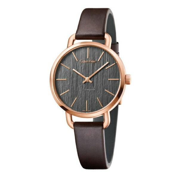 CK EVEN系列^(K7B236G3^)岩紋 腕錶 黑面36mm