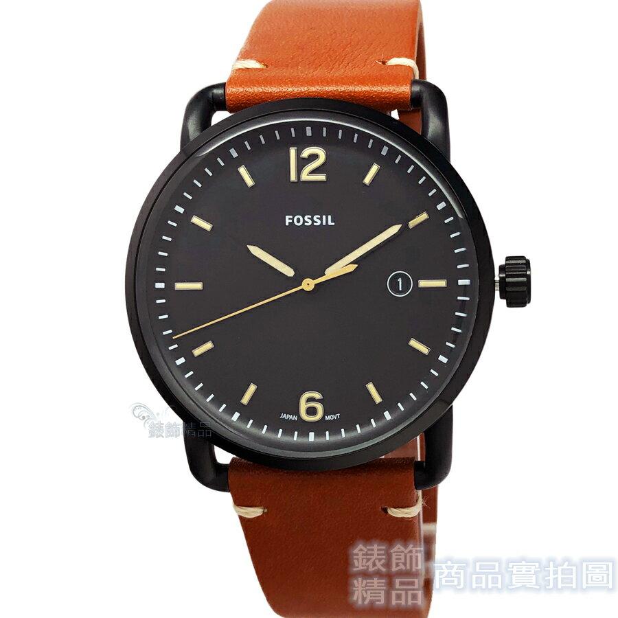 FOSSIL 手錶 FS5276 優雅紳士時尚款 日期 42mm 黑面 男錶【錶飾精品】