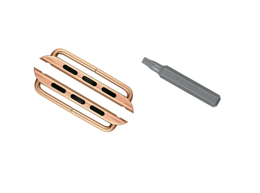 2-Adapters-for-44mm-Apple-Watch-Rose-Gold-Color-Lugs-Connectors-with-Outside-Screw-Bars-and-Star-Tool-for-iWatch-Series-4-Band-Strap-Replacement-