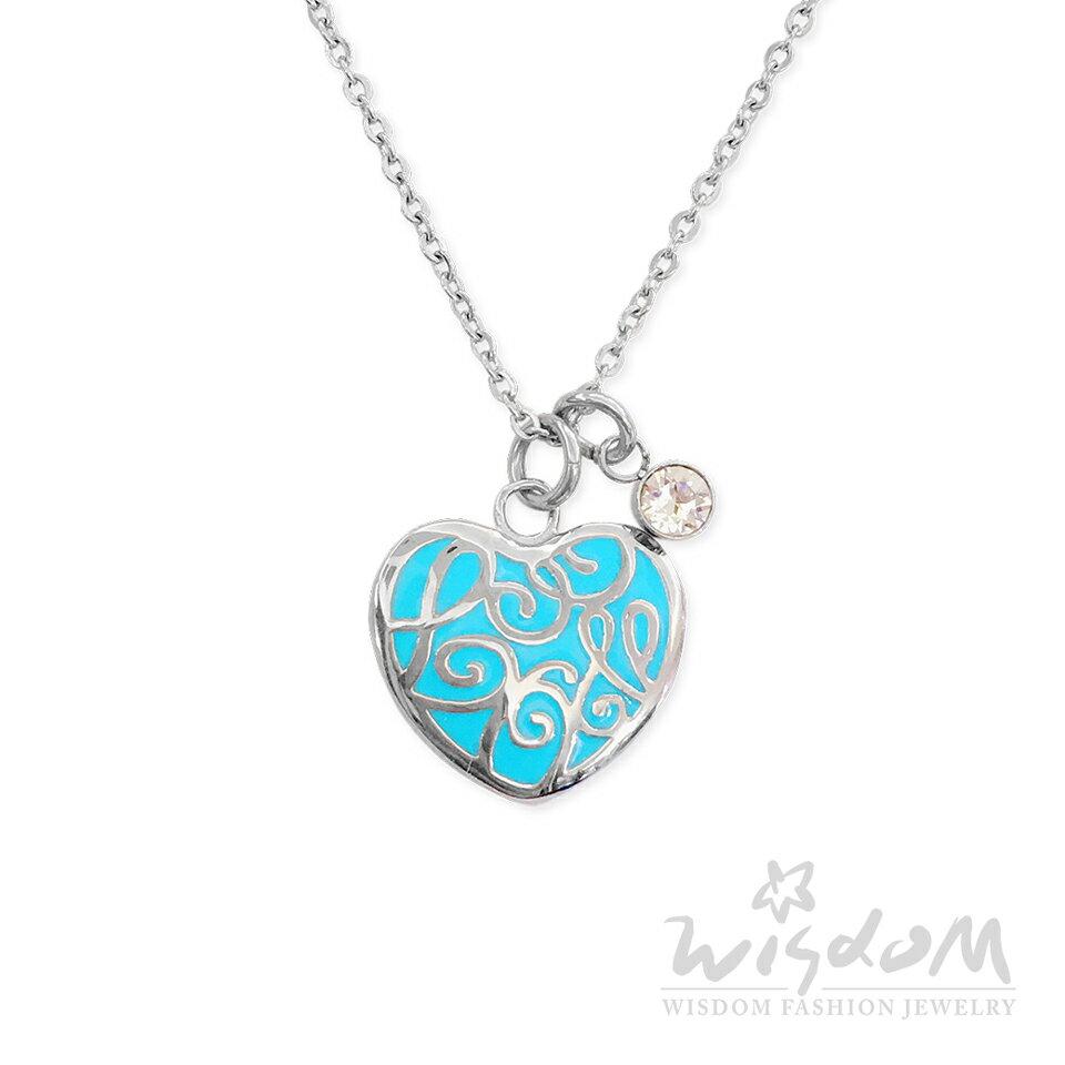 威世登時尚珠寶-摯愛藍琺瑯白鋼套鍊 清新亮眼 穿搭推薦 ZNB00053-1-BBHX