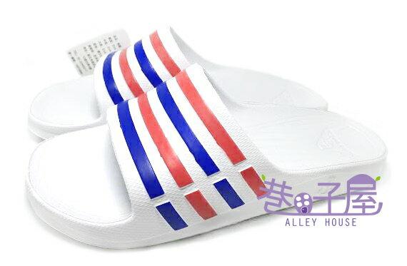 【巷子屋】JIMMY POLO 男/女款經典條紋超輕量拖鞋 [65002] 白 超值價$190
