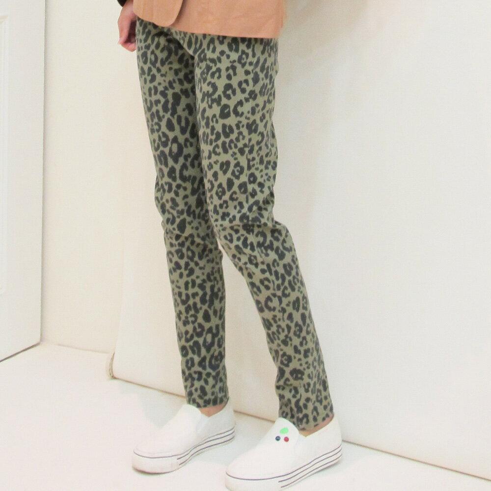 豹紋合身窄版長褲-3 colors