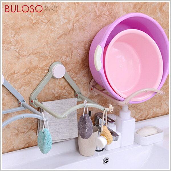 《不囉唆》吸盤式自動回彈置物架  浴室收納  廚房  免釘  鍋盆架(可挑款  色)【A425466】
