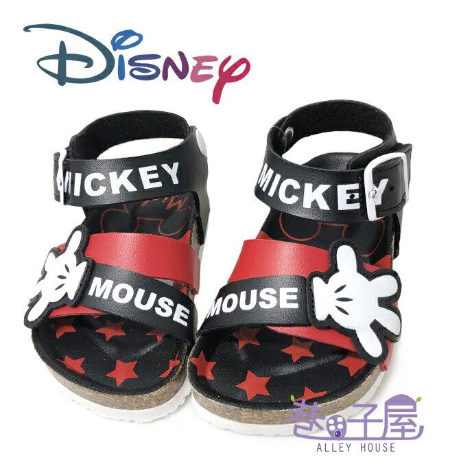 迪士尼DISNEY 童款米奇手套伯肯涼鞋 [117254] 黑 MIT台灣製造【巷子屋】