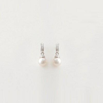~925純銀耳環鑲鑽耳飾~簡約 珍珠 生日情人節 女飾品73hz32~ ~~米蘭 ~