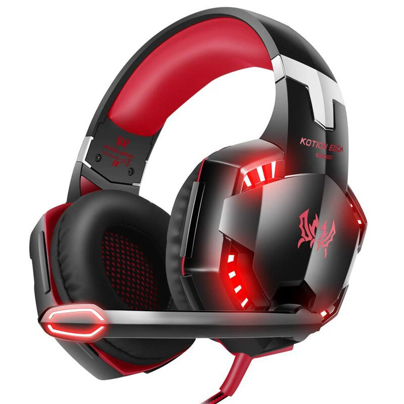 【美國代購】VersionTECH G2000遊戲耳機 適用於Xbox One PS4 Nintendo Switch PC Mac電腦遊戲- 紅色
