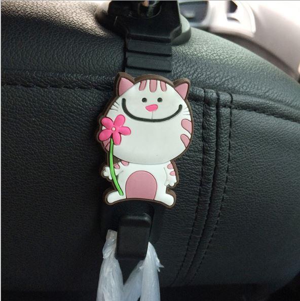 【省錢博士】卡通動物汽車掛鉤 / 車內座椅置物鉤 / 多功能車載椅背掛鉤 (2入)