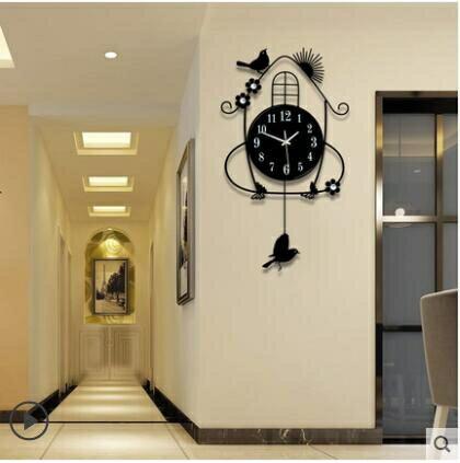 掛鐘 鐘錶掛鐘客廳創意簡約現代時尚時鐘掛墻臥室家用錶靜音夜光石英鐘