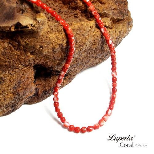 大東山珠寶 頂級阿卡珊瑚 桶珠珊瑚項鍊 1