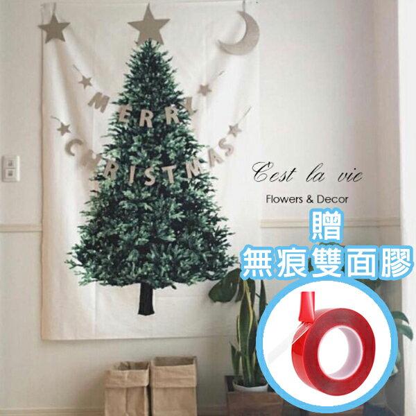 耶誕送禮⛄【贈無痕雙面膠一綑】Ins北歐風聖誕松樹掛布 小清新掛毯掛布 聖誕樹 聖誕節佈置 耶誕節 背景布 沙灘巾 野餐巾 拍攝牆 牆壁裝飾 掛飾【A00030】 4