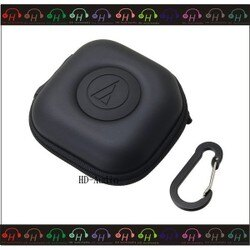 弘達影音多媒體 鐵三角 AT-HPP300 耳機收納盒 黑色 含金屬扣環 耳塞式耳機適用