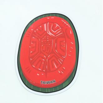 【〒台灣神】台灣旅行明信片。紅龜粿★GRAPHIC POST CARD★
