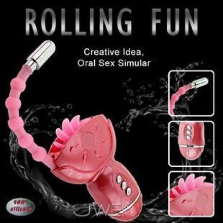 【BAILE】ROLLING FUN 飛舌靈指按摩器 多功能電動按摩棒 情趣用品