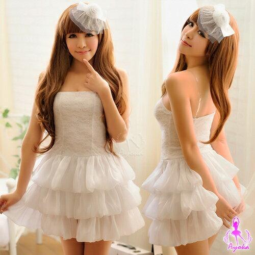 雪白泡泡!三件式夢幻公主系角色扮演服 角色扮演 cosplay 情趣用品
