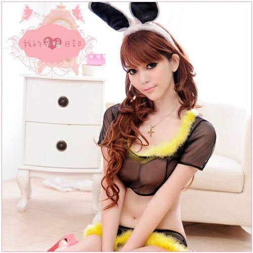 迷情聖誕夜‧兔女郎扮演角色服(黑) 角色扮演 cosplay 情趣用品