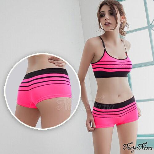 旋律!超彈力無縫中低腰平口褲S-XL(螢光粉) 運動型內褲 情趣用品