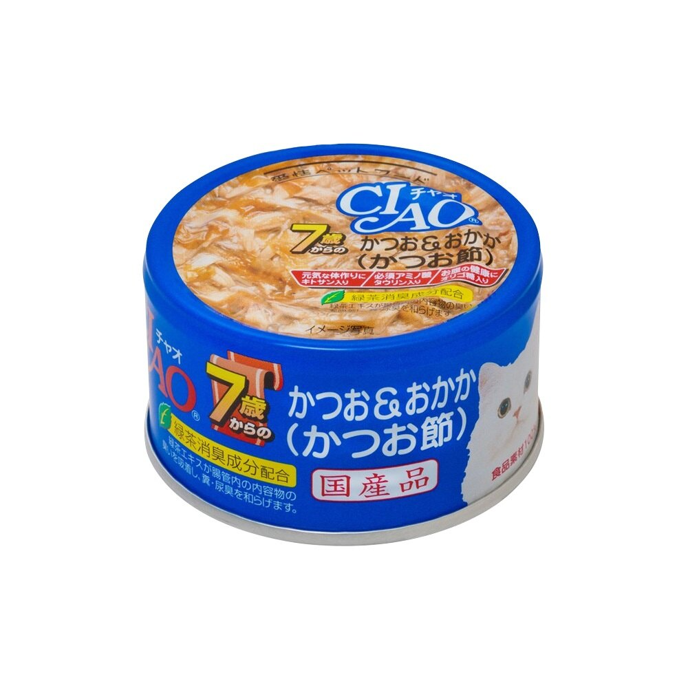 CIAO 旨定罐 7歲32號-鰹魚+柴魚 M-32 75g  可超取 (C002F30) 1