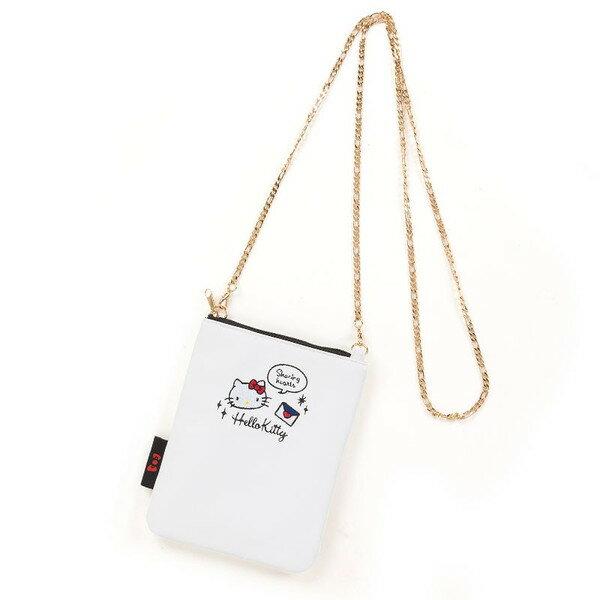 X射線【C476130】Hello Kitty 斜背手機包,美妝小物包/媽媽包/面紙包/化妝包/零錢包/收納包/皮夾/手機袋/鑰匙包