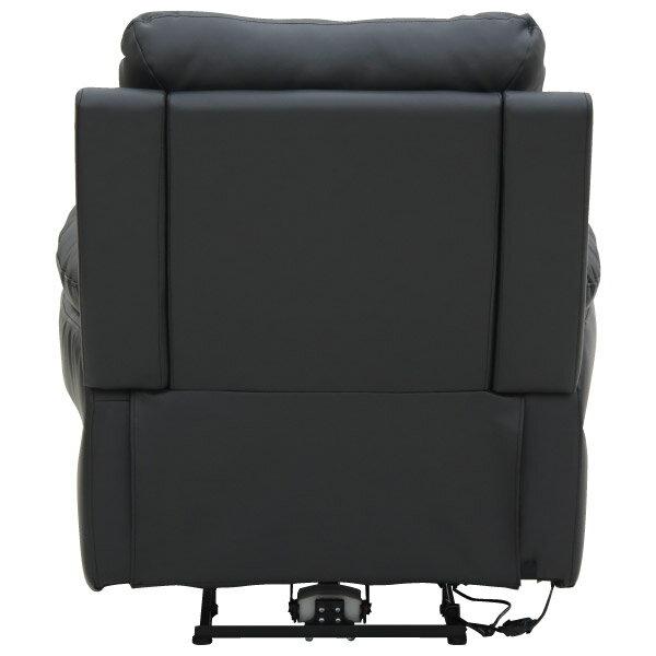 ◎(OUTLET)半皮1人用電動可躺式沙發 MEGA BK 福利品 NITORI宜得利家居 3