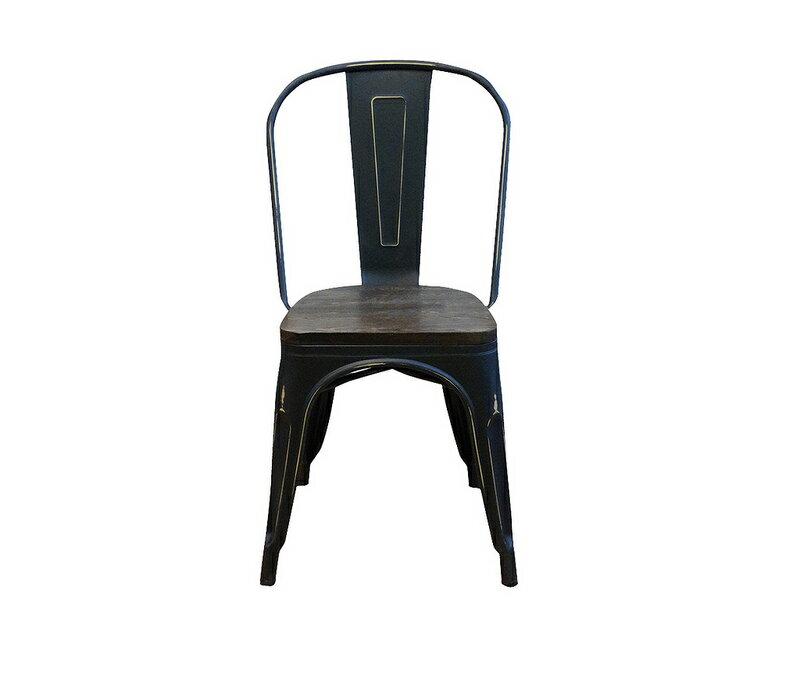 ~新 ~ 黑色 工業風 loft 鐵皮餐椅 復古 tolix 餐椅~奧莉薇~法式 非 H