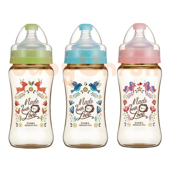 Simba小獅王辛巴-桃樂絲-PPSU寬口雙凹中奶瓶270ml