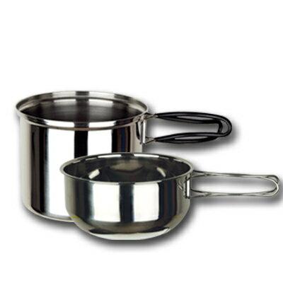 【大山野營】中和 超輕 野樂個人攜帶炊具 雙人鍋 二人鍋 不鏽鋼鍋具 不鏽鋼碗 登山 露營 ARC-302