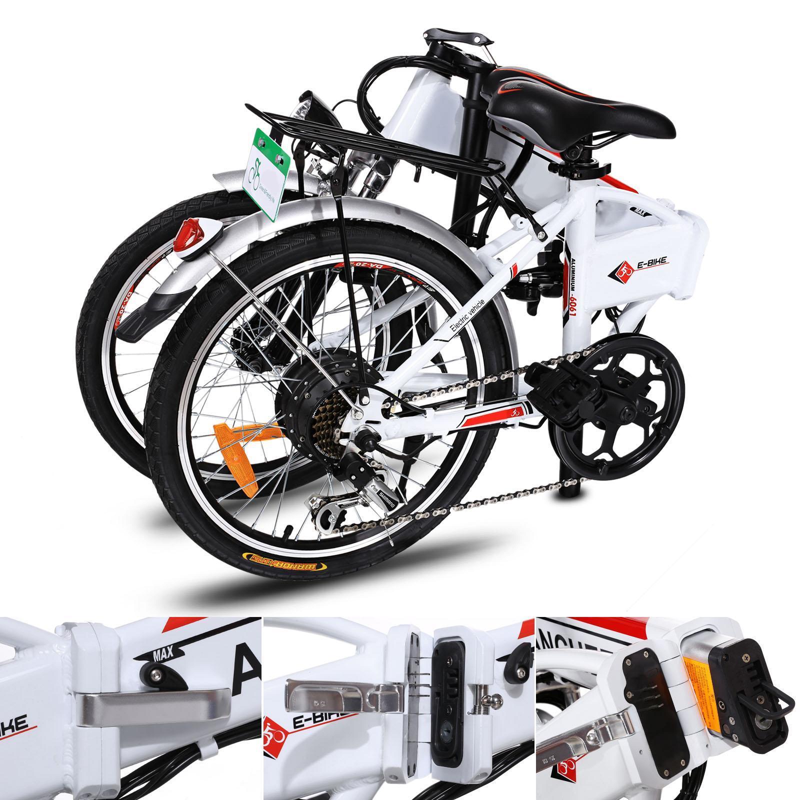 18.7 inch Wheel Aluminum Alloy Frame Folding Mountain Bike Cycling Bicycle White 2