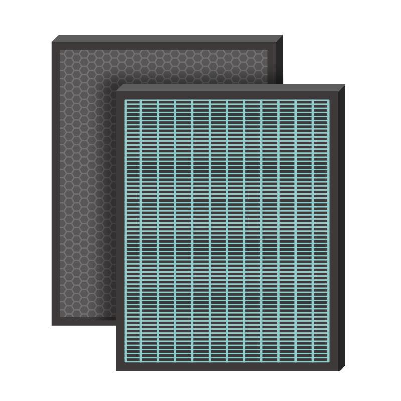滿三千折三百! 綠綠好日 複合型 抗菌 HEPA 濾芯 濾網 適用 Honeywell 16600 空氣清淨機  蜂巢活性碳顆粒濾網 樂天年貨大街