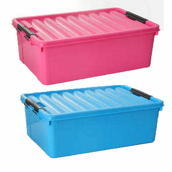 23L小號 扁平型床底收納箱 有蓋無輪子儲物箱 衣物整理箱 玩具收納盒 塑膠整理盒【YV6674】BO雜貨