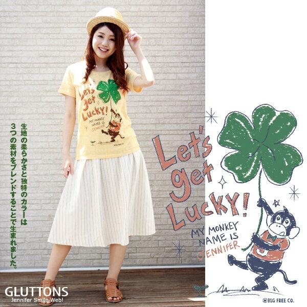 【日本GLUTTONS貪吃猴】Lucky幸運草短袖棉T