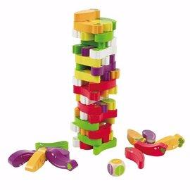 【淘氣寶寶】德國Hape愛傑卡拼圖系列-美味食物層層疊.3歲以上.兒童樂器.新品登場