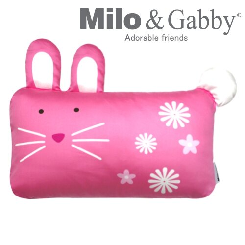 ★衛立兒生活館★Milo & Gabby 動物好朋友-mini枕頭套(LOLA兔兔)#8988