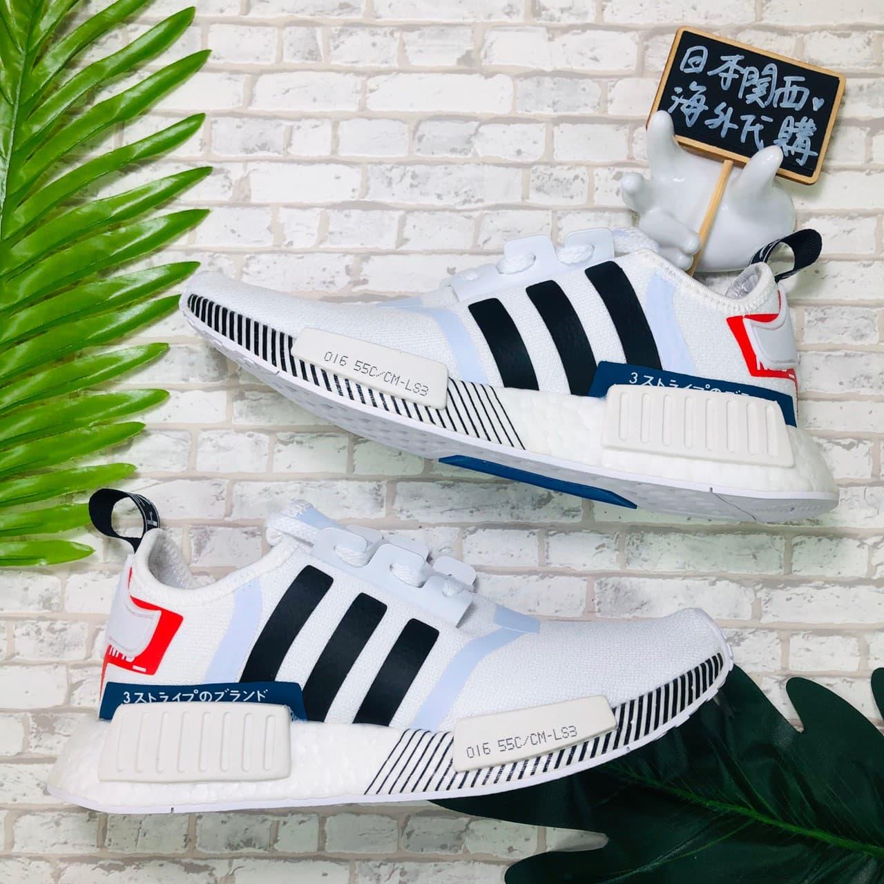 【日本海外代購】Adidas NMD boost R1 Japan White 日標 日文 白 黑 男女鞋 EF0753
