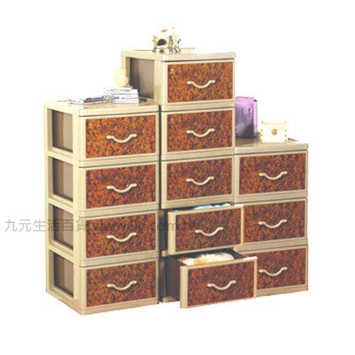 【九元生活百貨】聯府 QXL30 核桃木三層櫃(附輪) 置物櫃 收納櫃 QXL-30